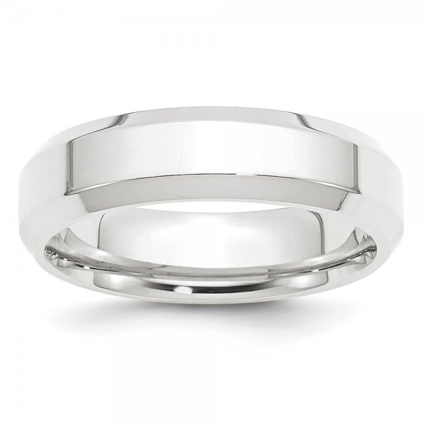 Platinum Comfort Band- Fit Flat with Beveled Edges