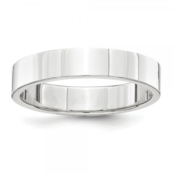 Platinum Flat Wedding Band