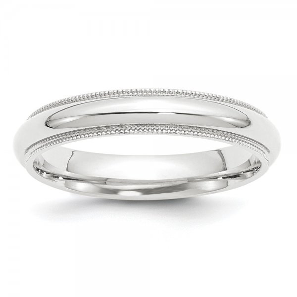 Platinum Comfort-Fit Milgrain Wedding Band