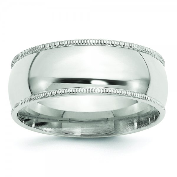 Sterling Silver Milgrain Comfort Fit Band