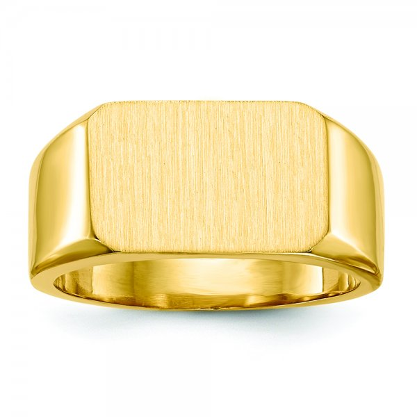 10k Yellow Gold y Mens Signet Ring