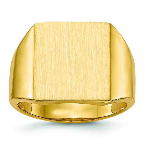 18k Yellow Gold Mens Signet Ring