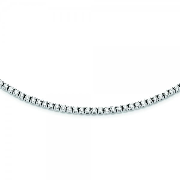 14k White Gold Diamond 17.5in Necklace