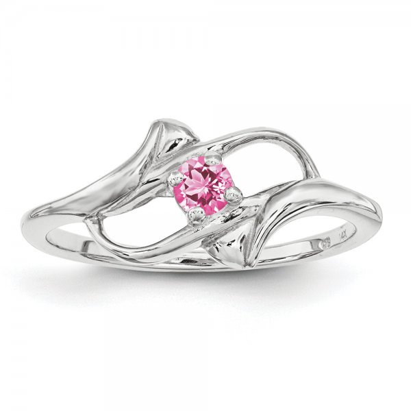 Sterling Silver Rhodium-plated Family Jewelry Fancy 1-Stone Ring