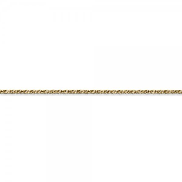 14k Yellow Gold Solid Polished Cable Chain Anklet