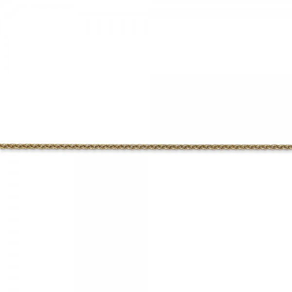 14k Yellow Gold Cable Chain Anklet